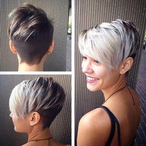 Cortes asimetricos cabello corto