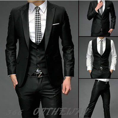 Autumn Wedding Party For Mens Groomsman Slim Fit One On Suits Pants Vest Dress Set Free