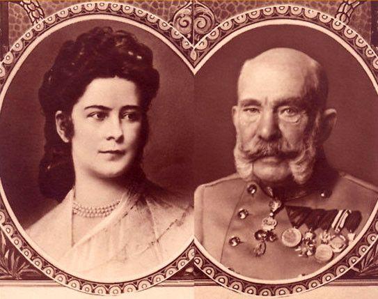 François-Joseph et Elisabeth d'Autriche
