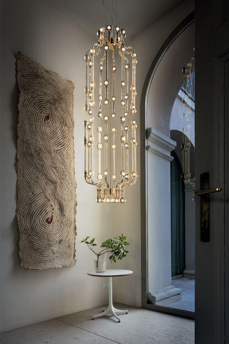 modern lighting concepts. Italian High End Designer Vertical Modular Gold Chandelier | Lighting Concepts, Chandeliers And Window Modern Concepts I