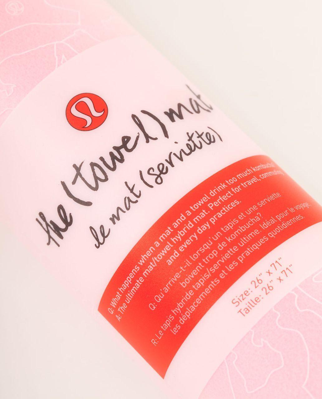 Lululemon the towel mat pink shell deep coal lulu