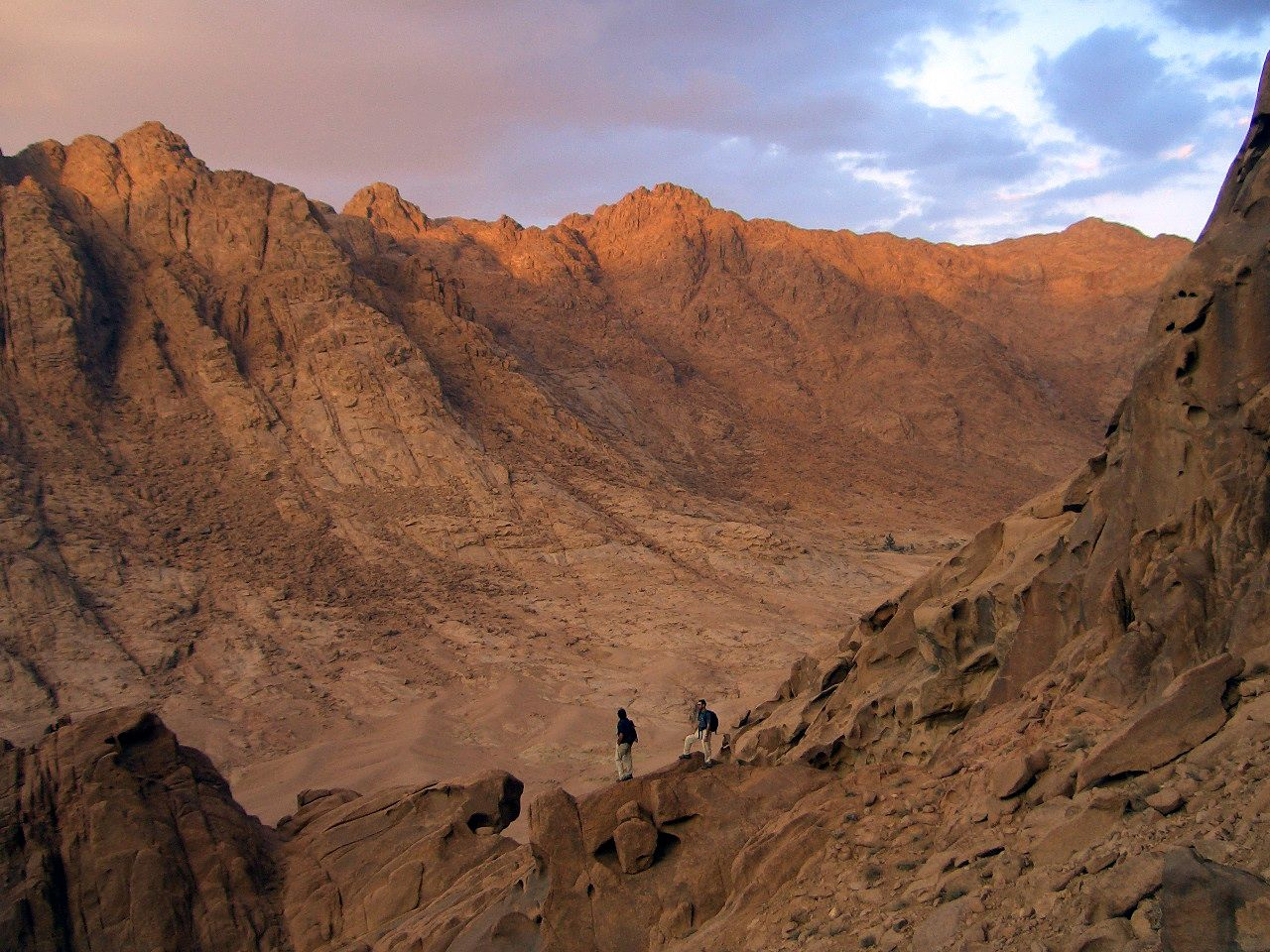 The Way to the Holy Peak of Moses Mountain, Sinai, Egypt
