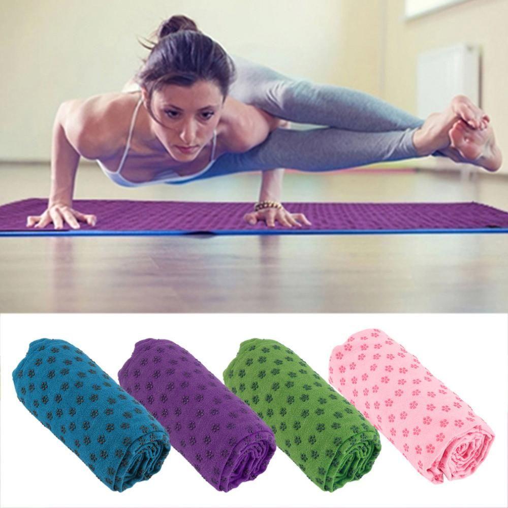 Non-Slip Yoga Pilates Mat Cover Towel Blanket Fitness Exercise Microfiber