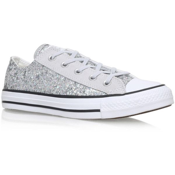 Converse Silver Glitter Low Top Chuck Taylor Trainers (235
