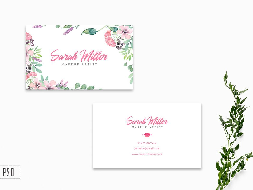 Free Floral Business Card Template V2farhan Ahmad On Within Free Editable Printable Printable Business Cards Floral Business Cards Free Business Card Templates