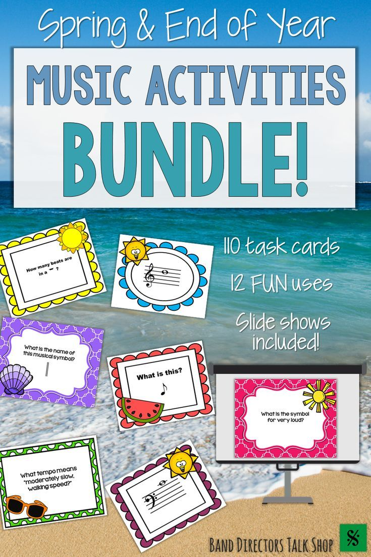 Spring Music Activities End Of Year Music Lessons Bundle Littles