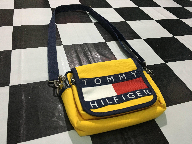 7038f962719 Vintage Tommy hilfiger bag tommy big flag logo color block crossbody bag  Excellent condition by AlivevintageShop on Etsy