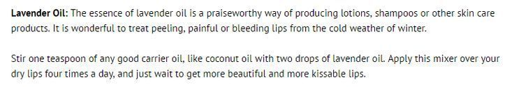 Lavender oil for dry lips dilute with coconut oil or another carrier oil hair   New Ideascarrier