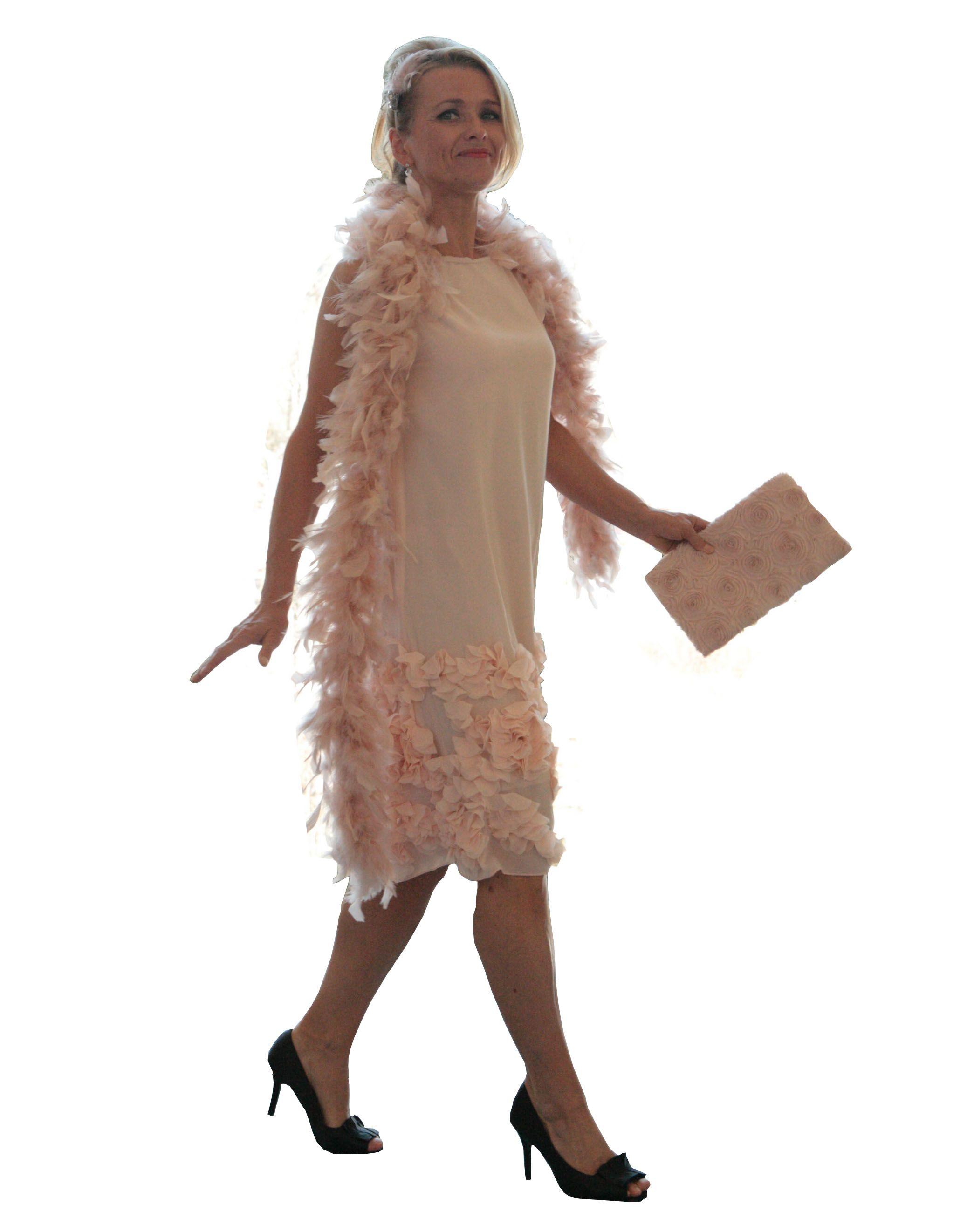 Kleid im 20er Jahre Stil von klennes. Farbe lachs   Damen Mode ...