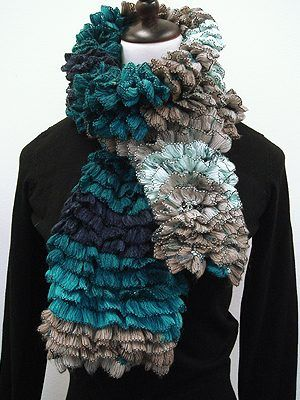 Free Euro Yarn FLICK FLACK SCARF Pattern | Knitting | Pinterest ...