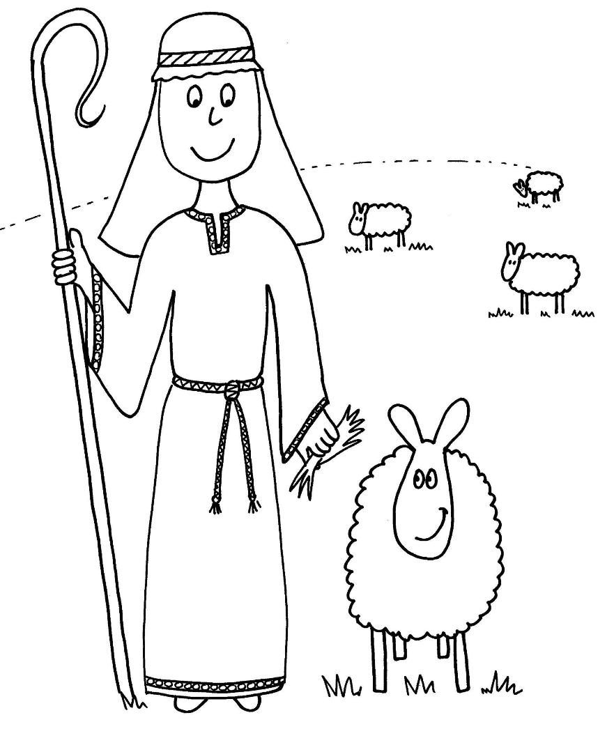 Shepherd Coloring Page Coloring Pages Amp Pictures Imagixs