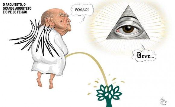 Oscar Niemeyer no céu sobre declarações da Revista Veja