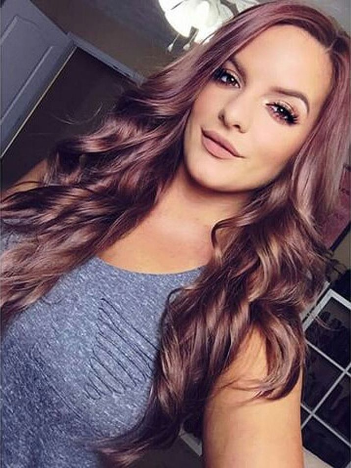 20 Pics Pretty Chocolate Rose Gold Hair Color Ideas
