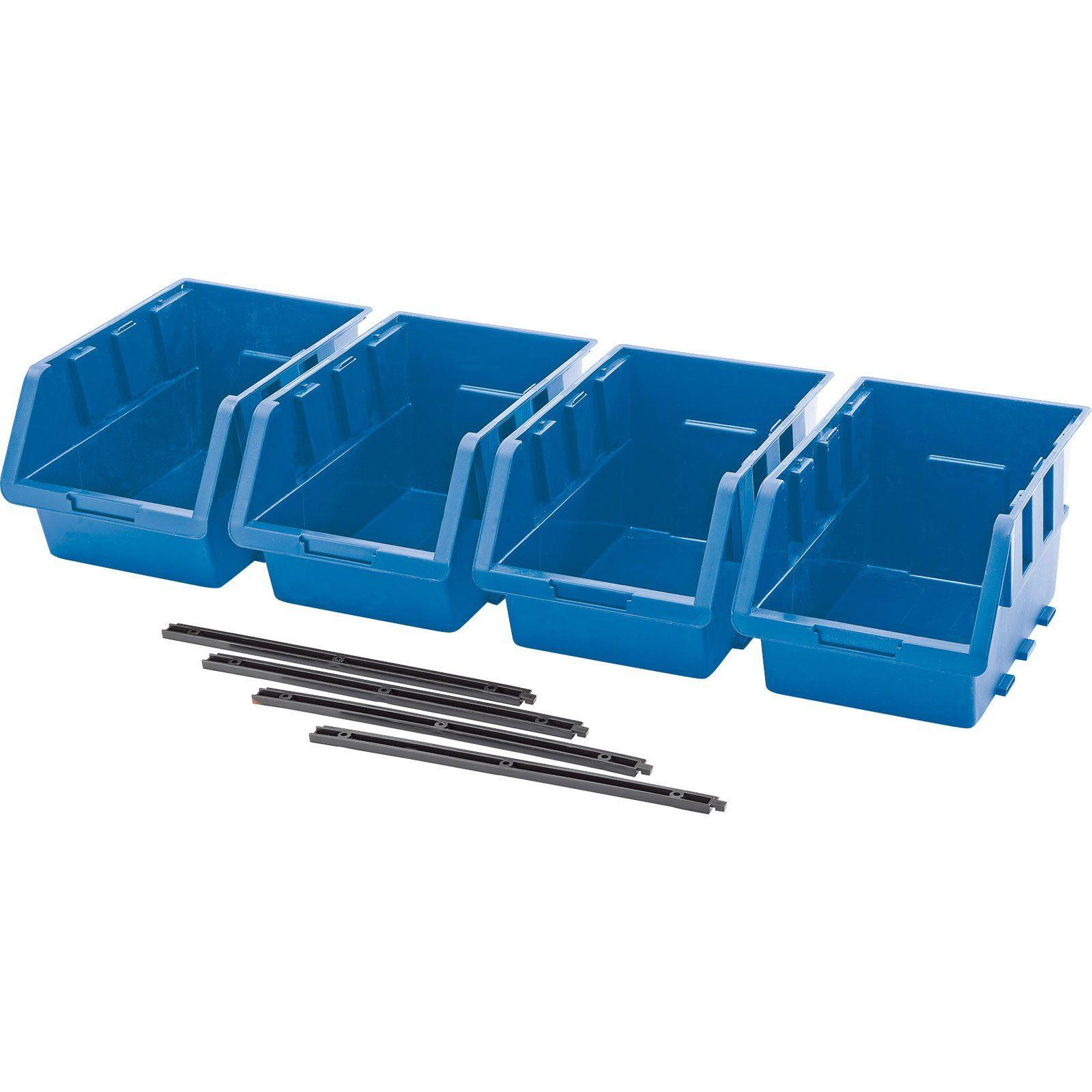 Draper 4 Piece Set Of Large Storage Bins 150mm X 240mm X 128mm