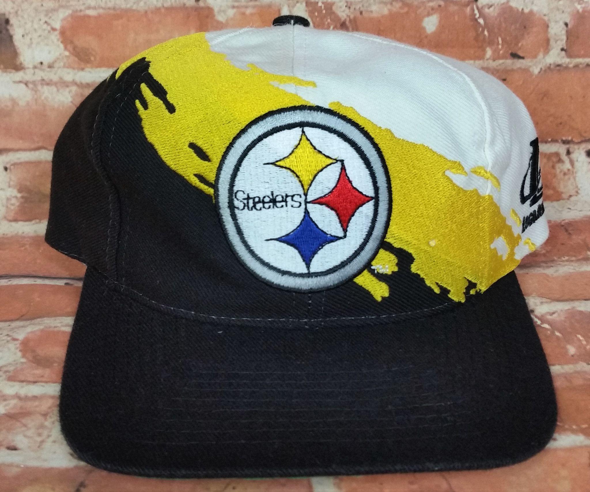 Pittsburgh Steelers Vintage Snapback Logo Athletic Splash Hat NFL Pro Line  Cap 63b69dd225b