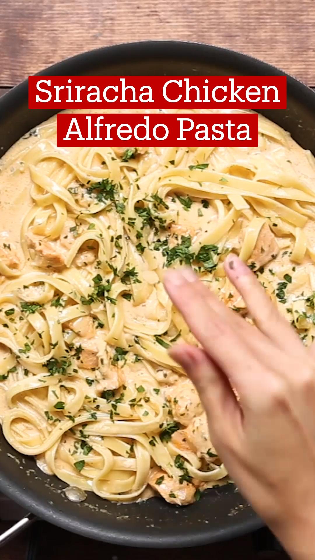 Sriracha Chicken Alfredo Pasta