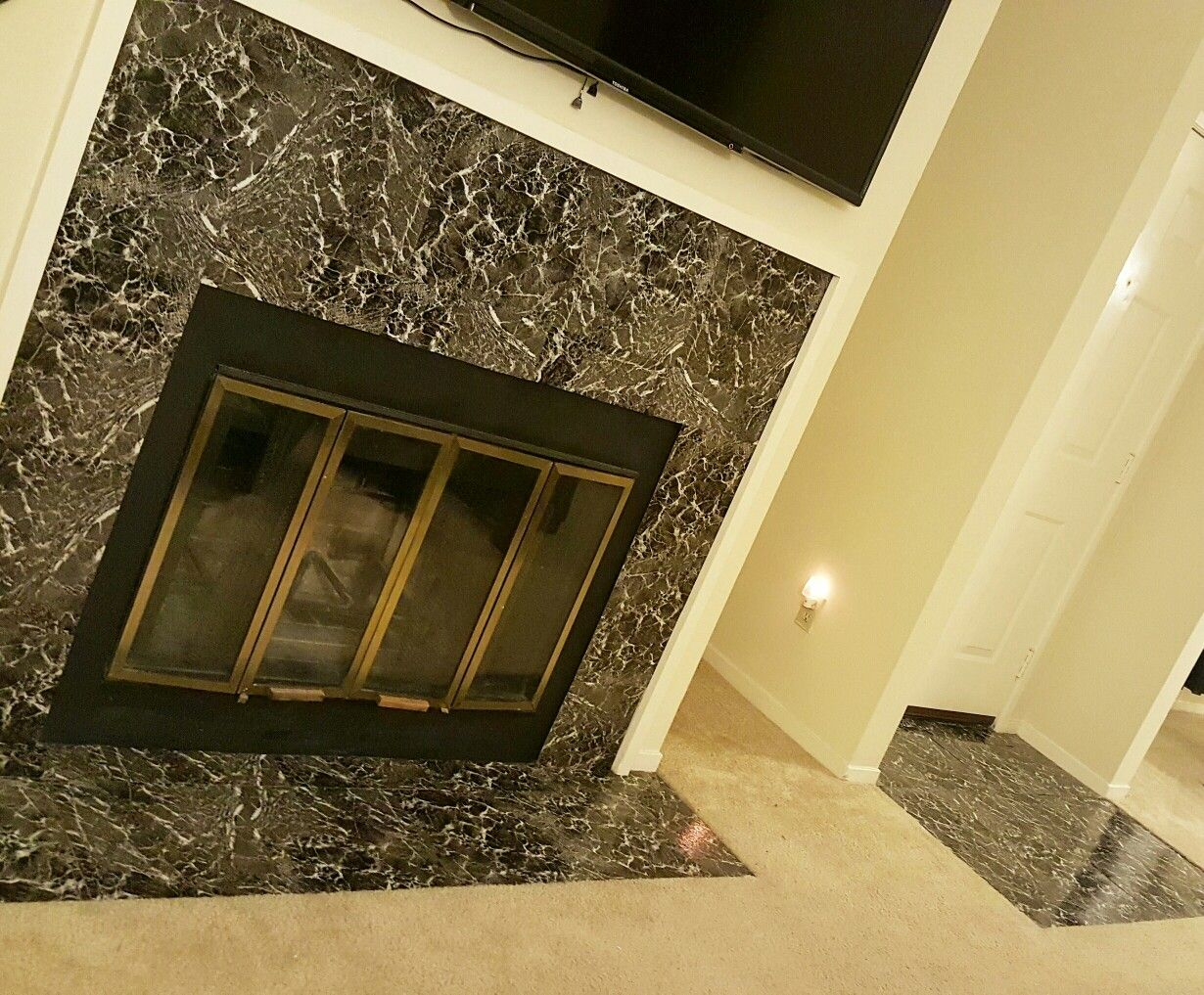 Entryway And Fireplace  U0026quot Peel And Stick Tile U0026quot