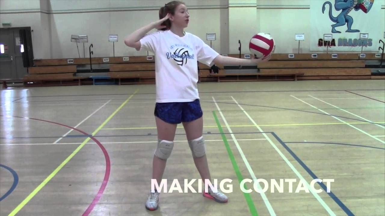How To Serve Basic Overhand Serve Volleyball Volleyball Drills Volleyball Training Volleyball Tips