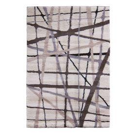 For Coles Room. Allen + Roth Yotta Rectangular Cream Geometric Area Rug  (Common: