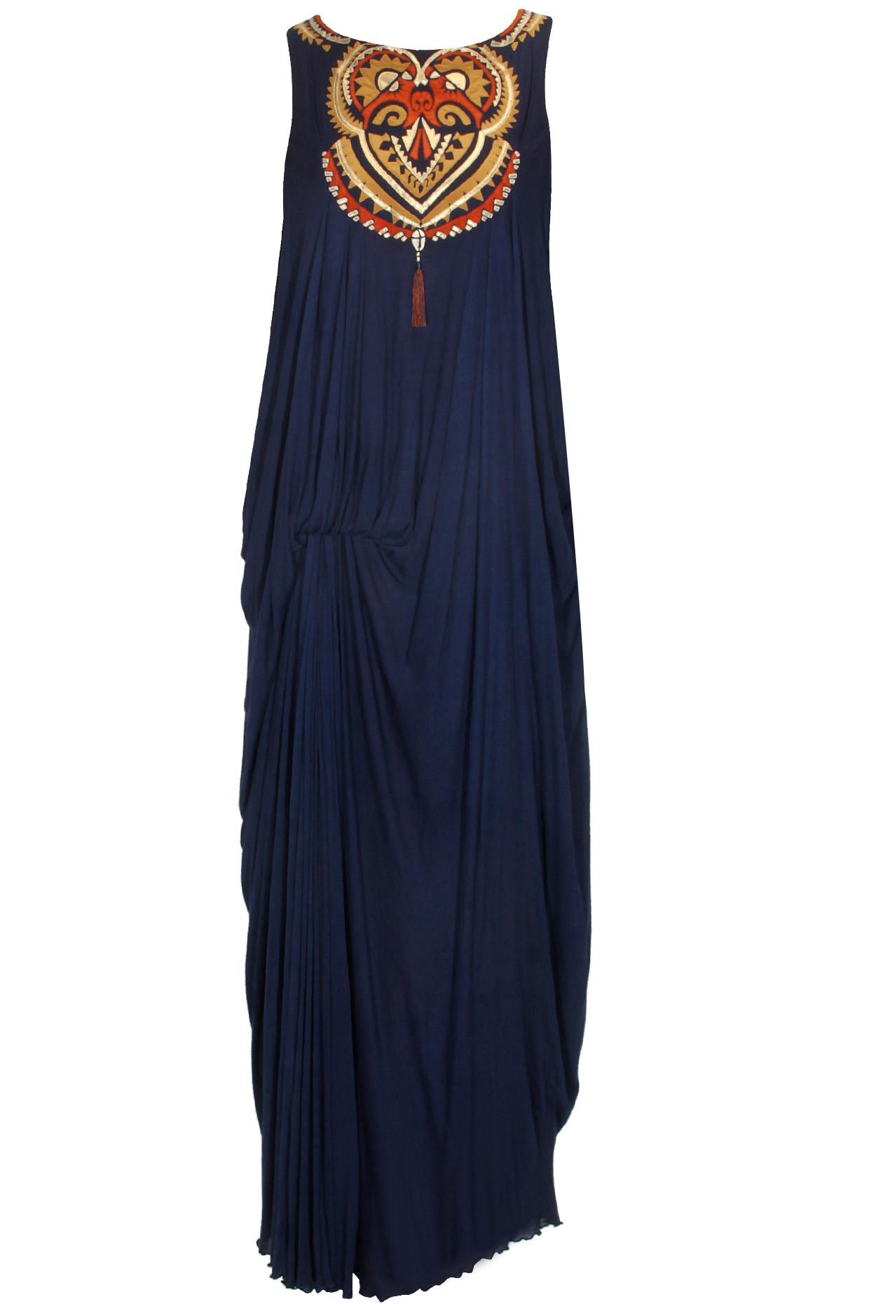 Navy blue maori magic vintage drape available only at Pernia's Pop Up Shop.#perniaspopupshop #shopnow #resortwear #autumnwinter #designer #clothing #newcollection #happyshopping #maliniramani