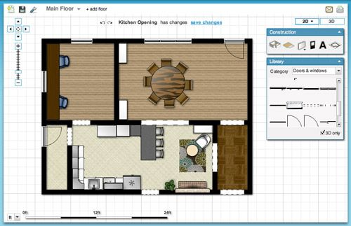 Online Tools for Planning A Space in 3D Google sketch, Kitchen - fresh blueprint maker website