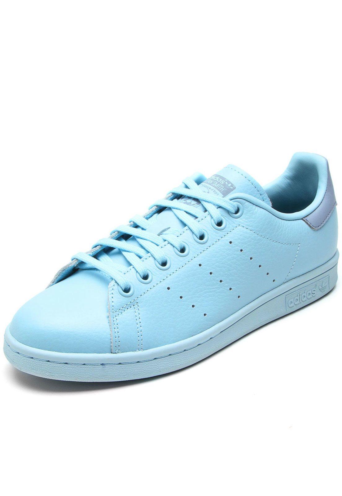 ab66d822860 Tênis Couro adidas Originals Stan Smith J Azul