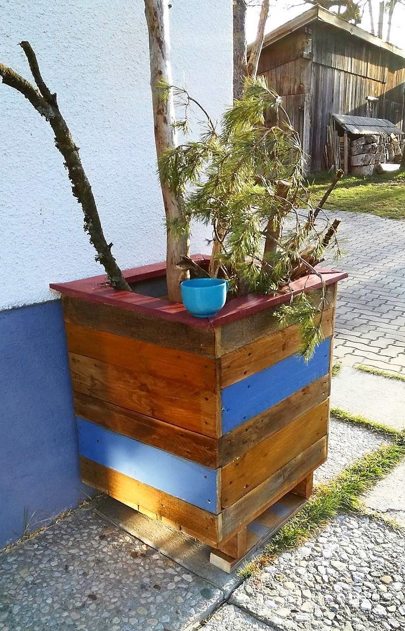 recycled pallet planter plan (With images)   Wood pallet ...