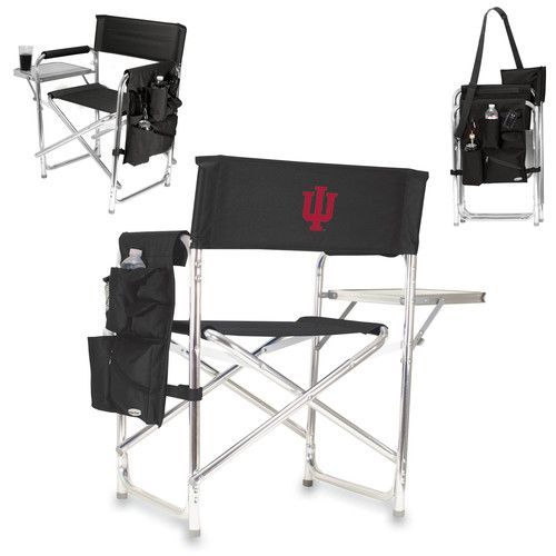 Sports Chair - Black (Indiana University - Hoosiers) Embroidered