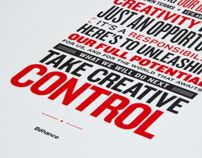 Behance Manifesto - Letterpress Poster by Raewyn Brandon, via Behance