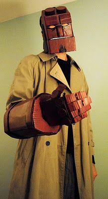 cardboard Hellboy costume