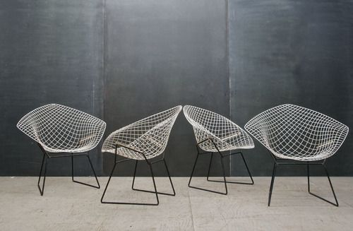 Silver Y Bertoia Diamond Chair Bertoia Bertoia Chair