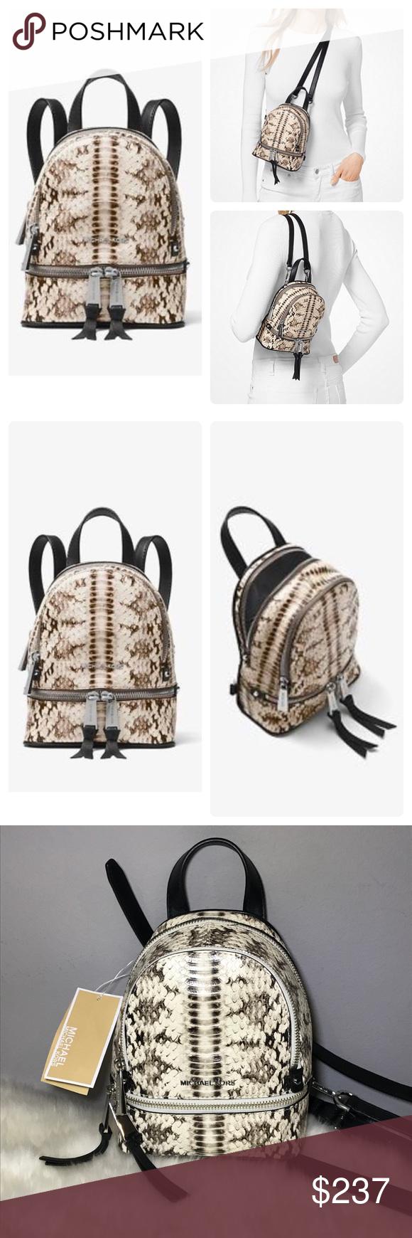 c6d8d2fe95f5 🔥NWT Michael Kors Rhea Snake-Embossed Backpack XS 🔥NWT Michael Kors Rhea  Mini