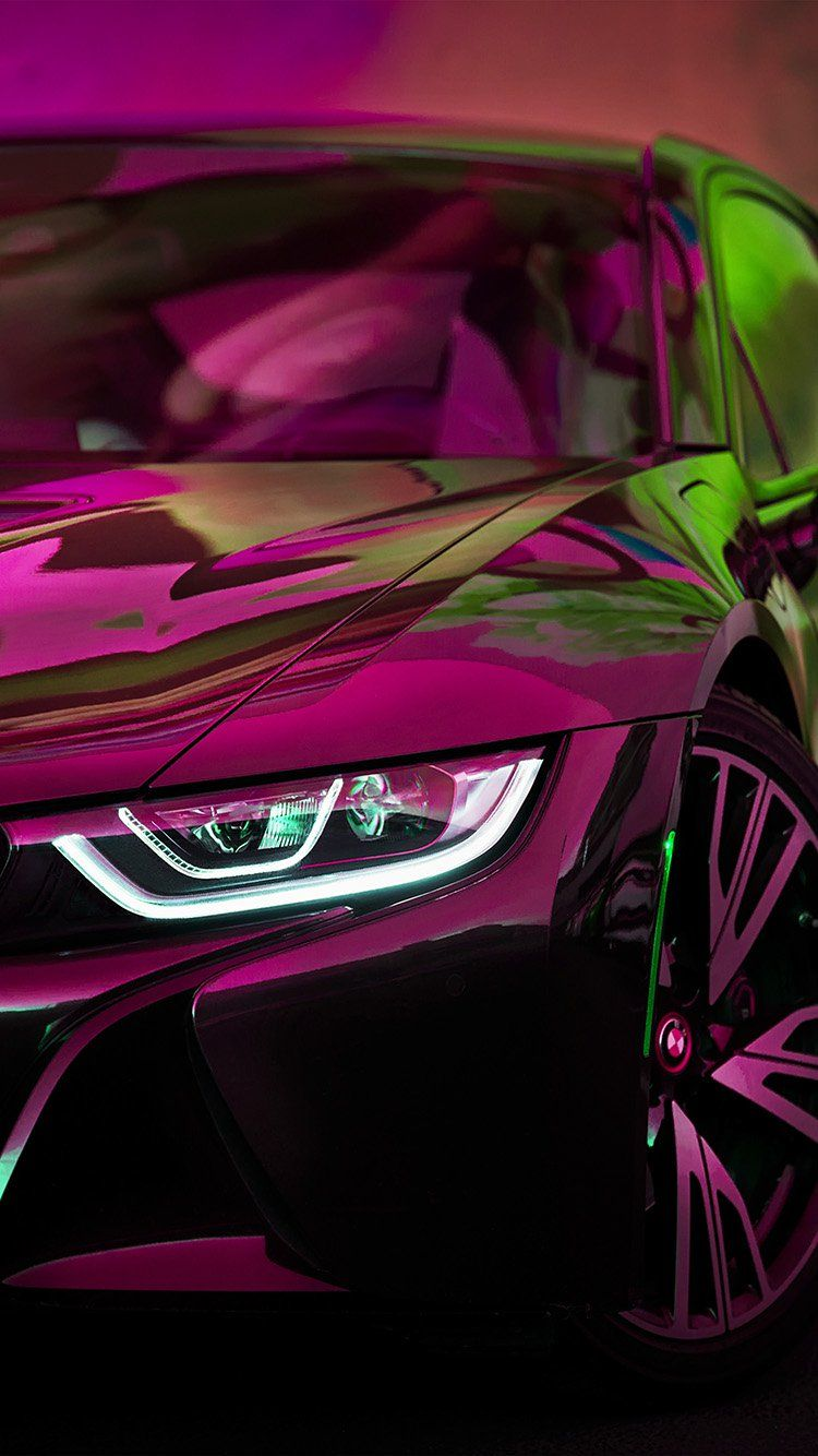 Bf27 Bmw Rainbow Red Purple Car Art Purple Car Bmw Wallpapers