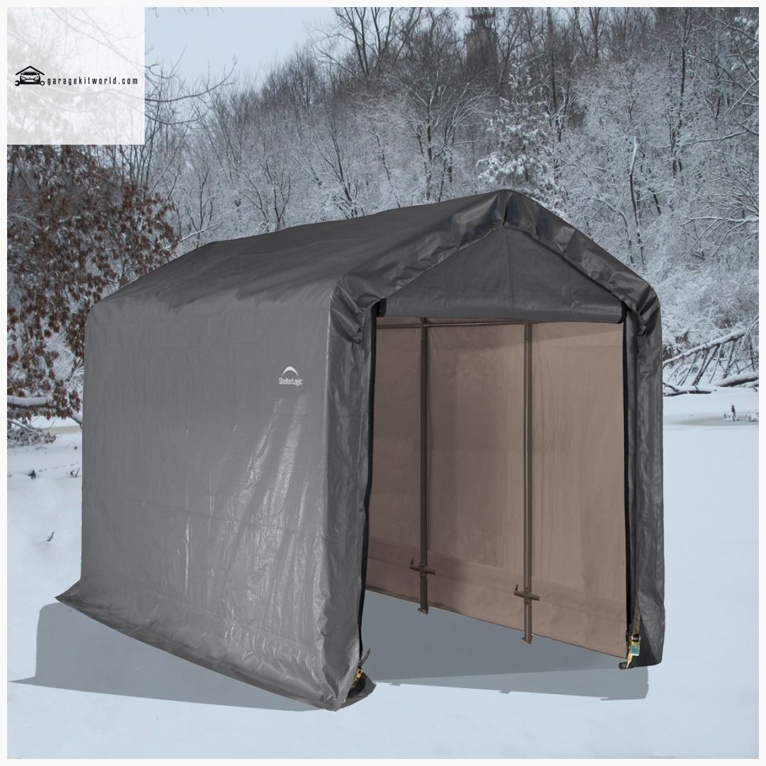ShelterLogic 6 x 12 x 8 ft. Gray ShedinaBox Storing