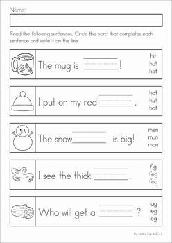 winter literacy worksheets and activities no prep worksheets literacy worksheets. Black Bedroom Furniture Sets. Home Design Ideas
