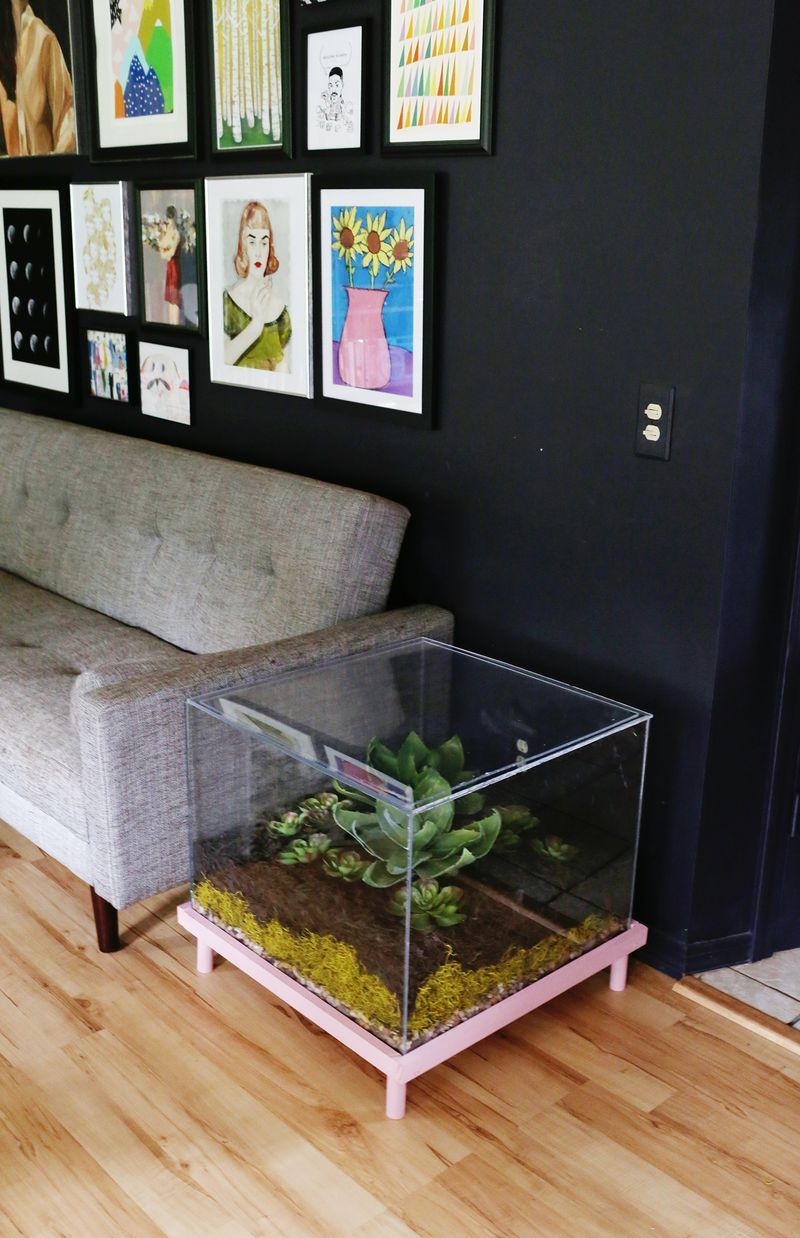 Terrarium side table diy things that make me think of us