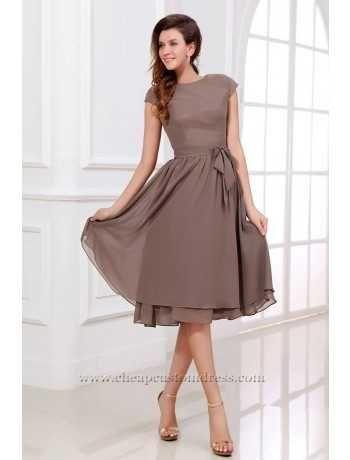 Classic A-Line Jewel Neckline Short/Mini Bridesmaid Dress : Cheapcustomdress.com