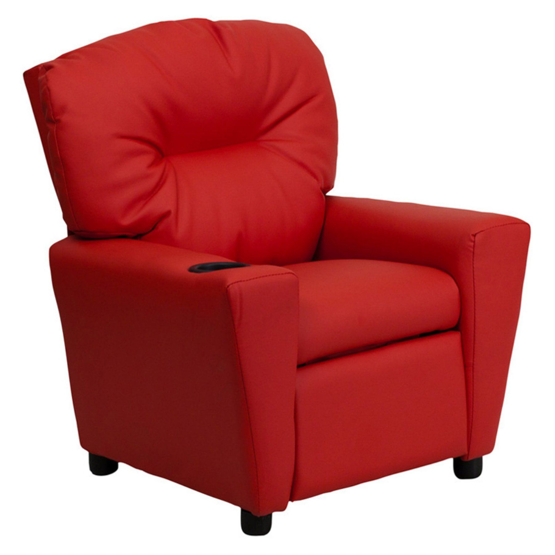 Prime Flash Furniture Vinyl Kids Recliner With Cup Holder Red Machost Co Dining Chair Design Ideas Machostcouk