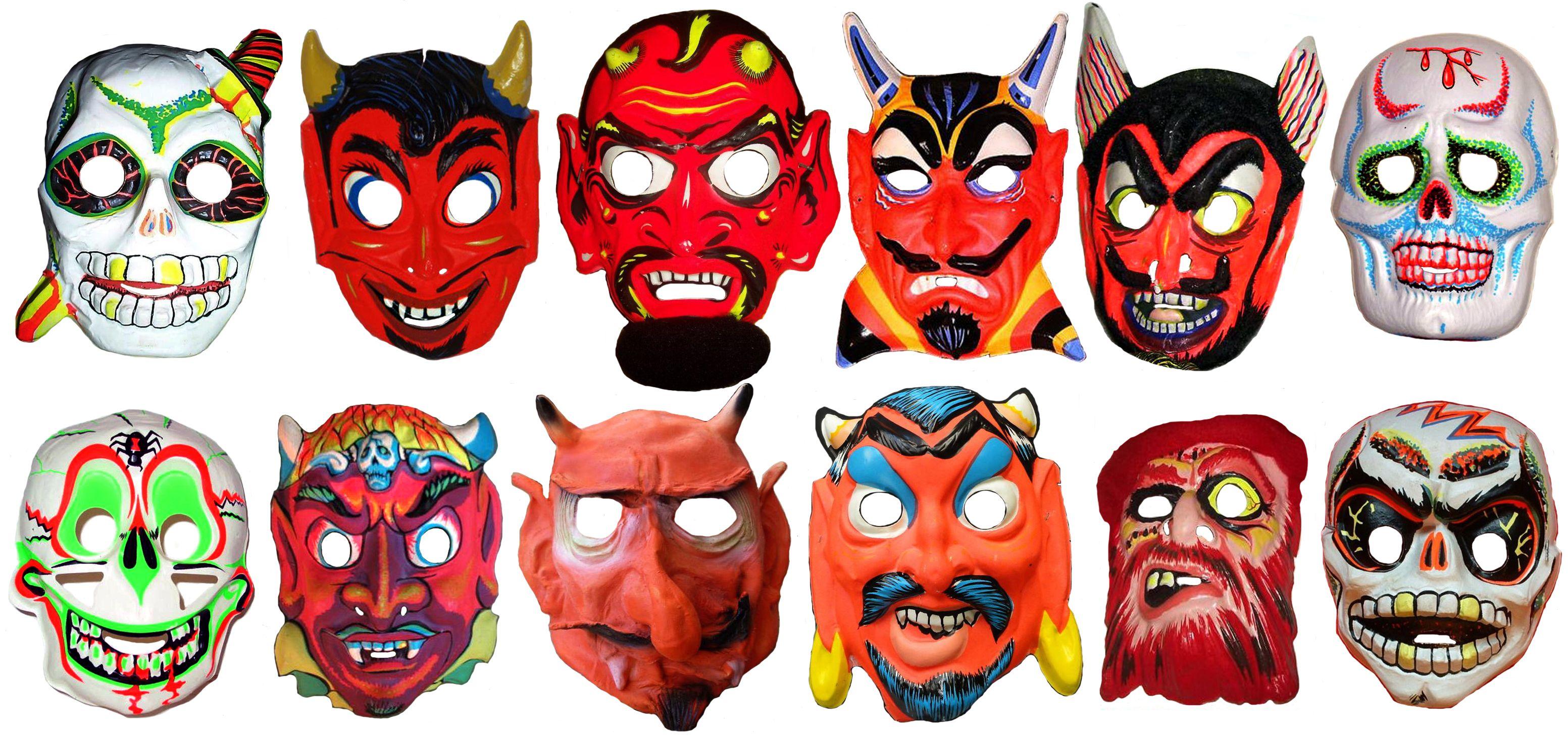 Vintage Halloween Masks | Products I Love | Pinterest | Halloween ...