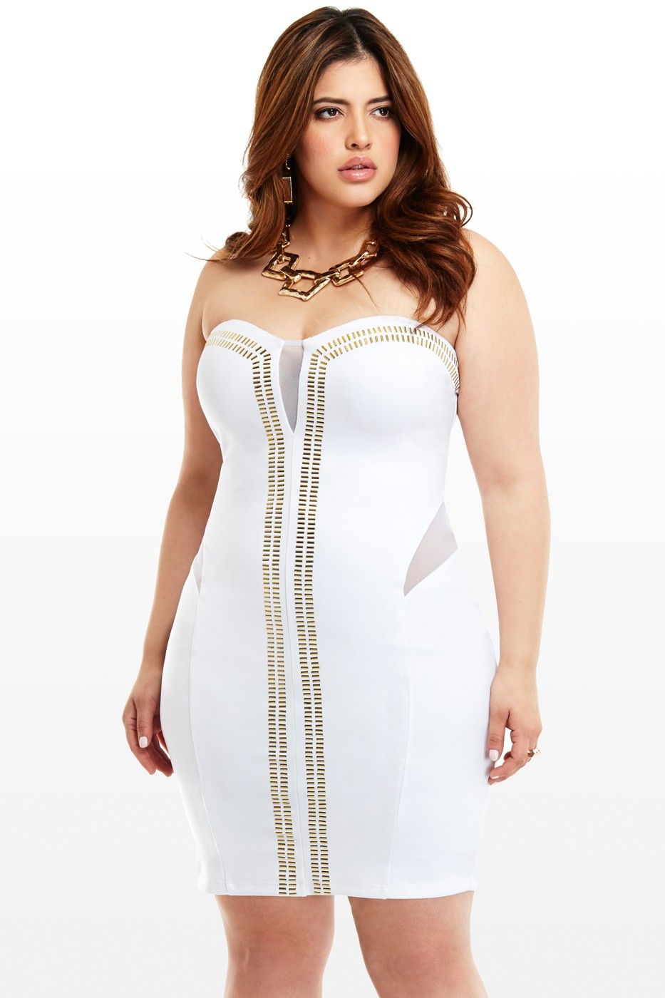 White hot rio gold trim dress my definition of womenus sexy