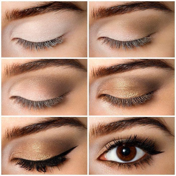 ▷ 1001 + Ideen für ein perfektes Make-up: Schminken für Anfänger #browneyeshadow