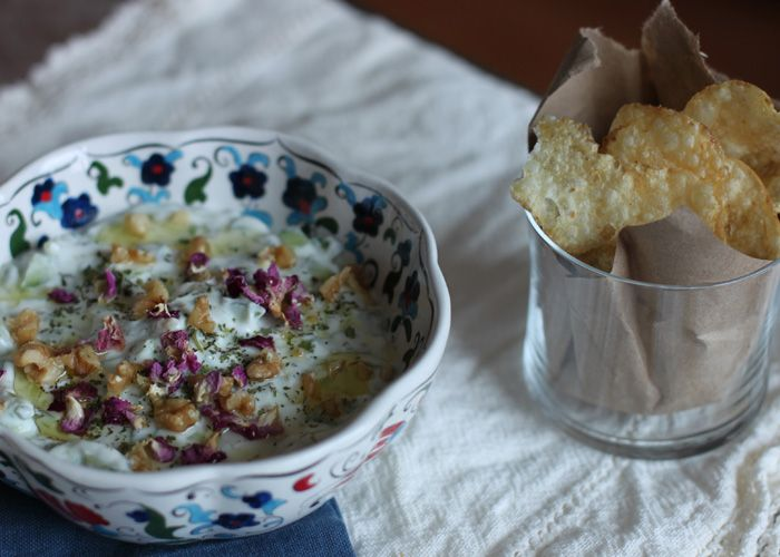 Mast-o-Khiar- Persian Cucumber & Walnut Dip - The Spice Spoon    Cooking without borders: Cuisine from Pakistan, Afghanistan, Iran & beyond.  Mast-o-Khiar- Cucumber & Walnut Dip in the Persian