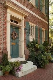 Image Result For Best Door Colors For Red Brick Home Red Brick