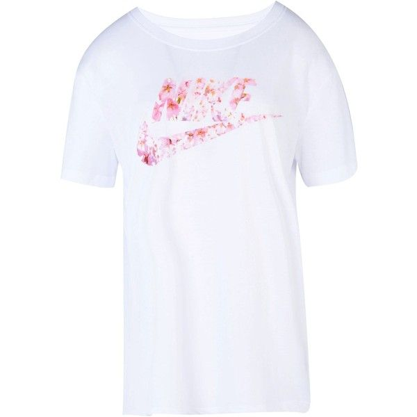 Nike T Shirt With Pink Flowers White | Gardening: Flower and