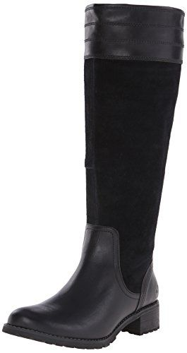 Timberland Women's Bethel Heights All Fit Tall Boot, Black Euroveg/Suede,  11 W US