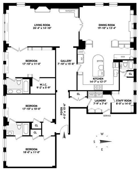 1088 Park Avenue 10f New York Ny 10128 Sales Floorplans Property Records Realtyhop Floor Plans Property Records Apartment Floor Plans