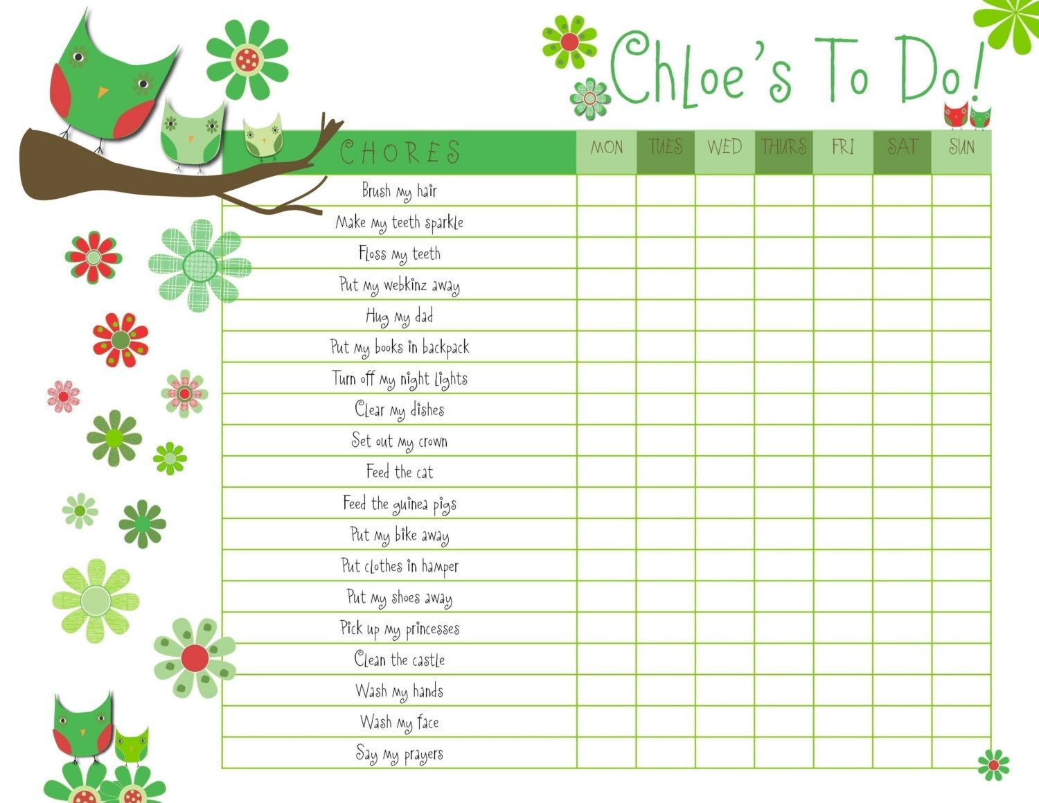 Printable Reward Charts For Kids  Activity Shelter  Printable