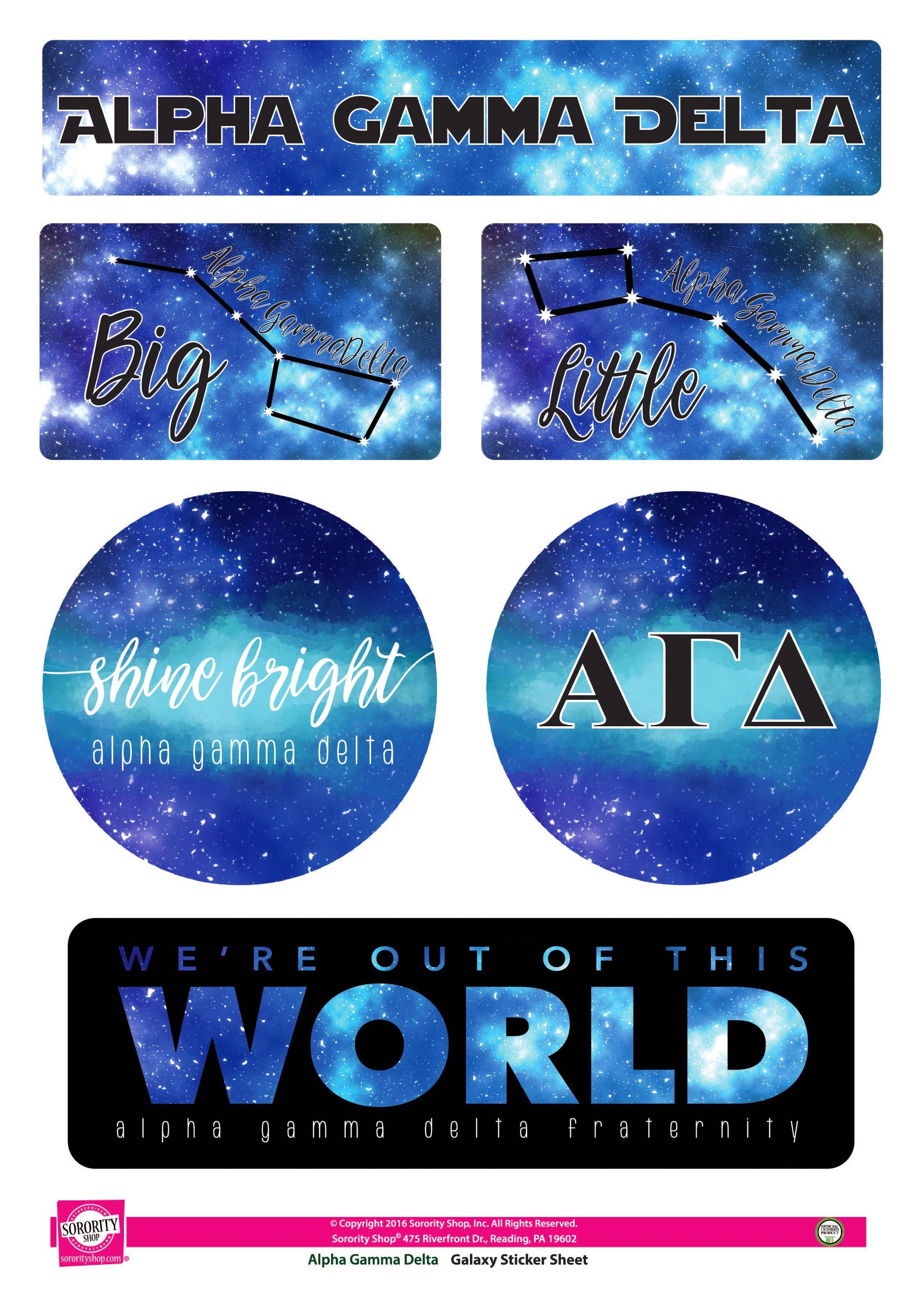Alpha Gamma Delta Galaxy Stickers Sororityshop Com