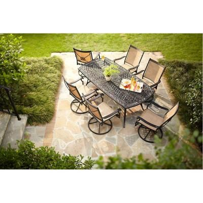 Martha Stewart Living  Solana Bay Patio Dining Set  at The Home Depot    Tablet. Martha Stewart Living Solana Bay 7 Piece Patio Dining Set ASR SET