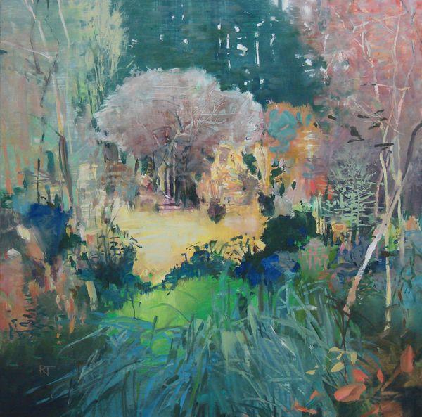 Painter's Process - Randall David Tipton: Into Bryant Woods + David Hockney interview oil on cradled panel 20x20